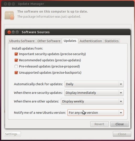 Ubuntu Upgrade Step 3