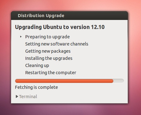 Ubuntu Upgrade Step 6
