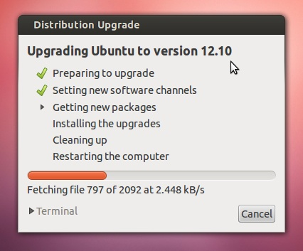 Ubuntu Upgrade Step 8
