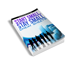 start small stay small cheat sheets ebook 3d