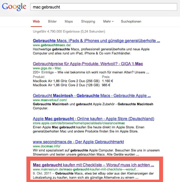google suche apple gebraucht