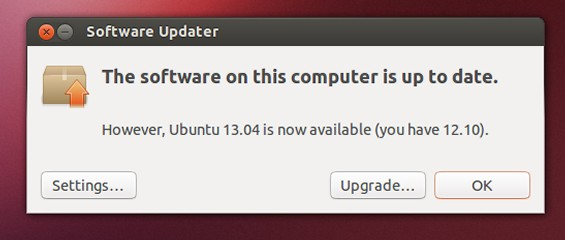 Ubuntu Upgrade 13.04 Step 3