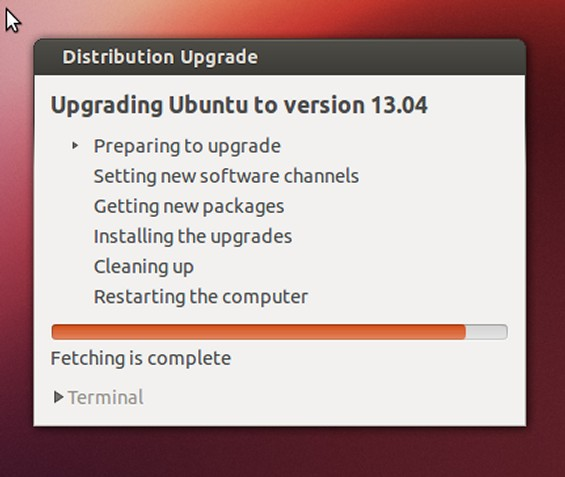 Ubuntu Upgrade 13.04 Step 5