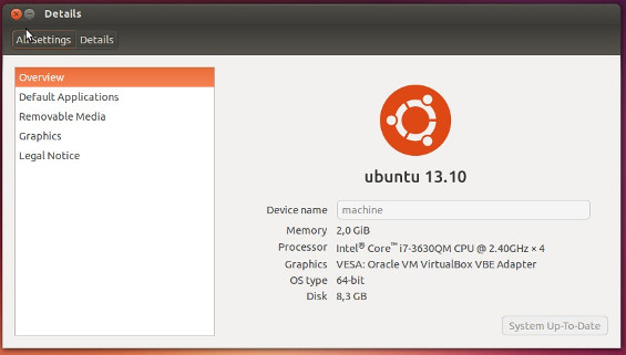 software update Ubuntu 13.04