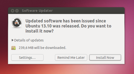 application update 2 - software update Ubuntu 13.10