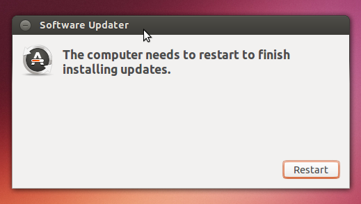 reboot - software update Ubuntu 13.10