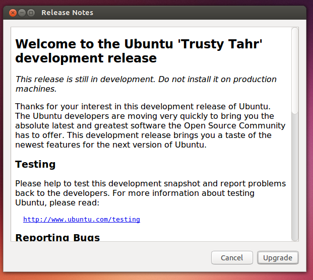 release notes ubuntu 14.04 - software update Ubuntu 13.10