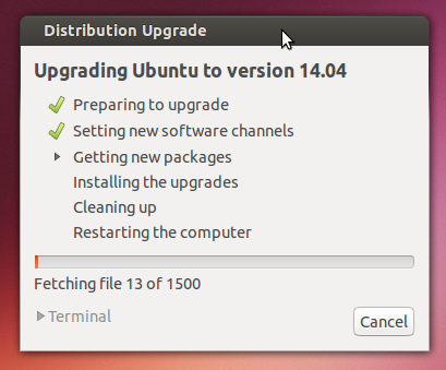preparing update ubuntu 14.04 - software update Ubuntu 13.10