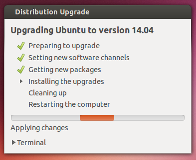 installing upgrades ubuntu 14.04 - software update Ubuntu 13.10